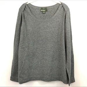 Eddie Bauer 100% cashmere grey sweater boatneck XL